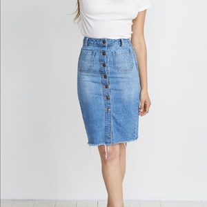 Marine Layer Brooke MIDI Skirt
